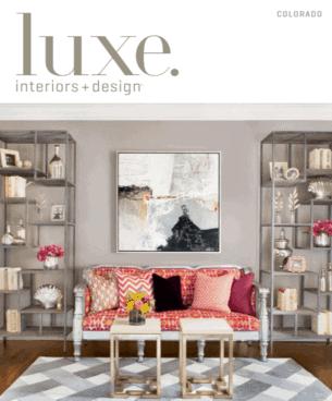 Upscale interior design magazine cover