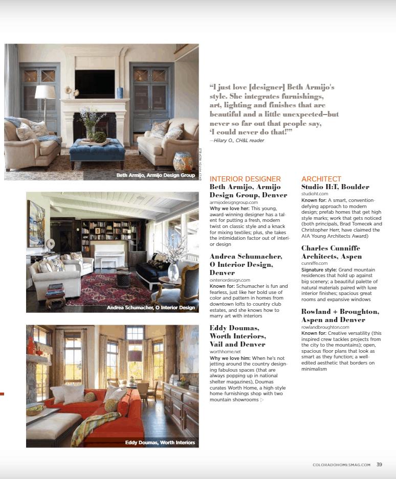 Article about best Denver interior designers