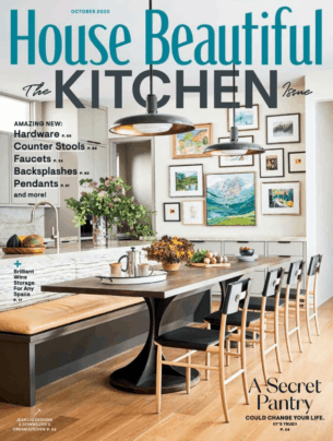 House Beautiful October 2020 issue cover