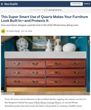 HB Magazine Online Article Creative Use of Quartz