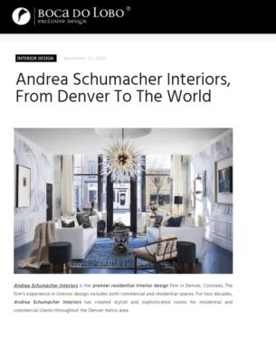 Boca do Lobo article about a top interior designer in the USA