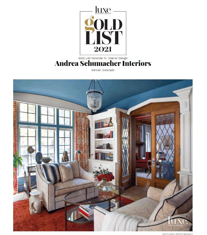 Interior Design Award Winning Sitting Room
