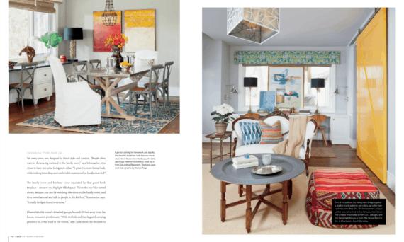Bright cheery room design in CO magazine article