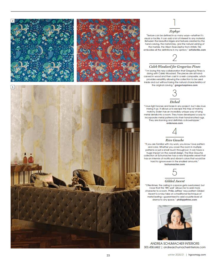 Best Colorado Interior Designer article about texture