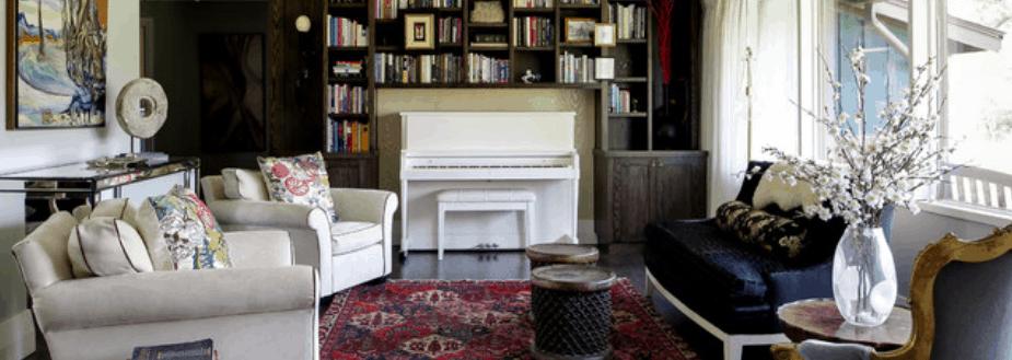 Interior Designer in Denver family room featured on Houzz